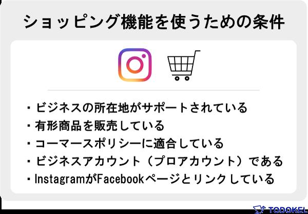Instagramショッピング機能を使うための条件